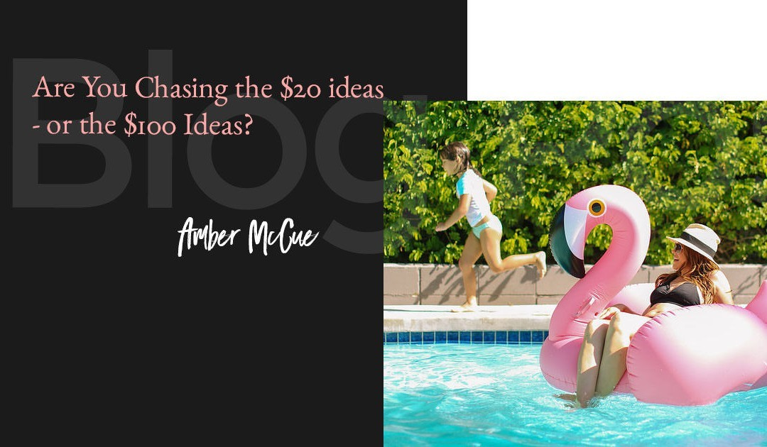 Are You Chasing the $20 ideas – or the $100 Ideas?