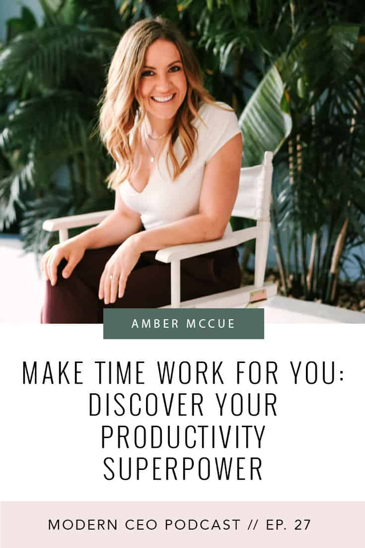 Make Time Work For You: Discover Your Productivity Superpower. Turn your 50+ hour work week into 40 or less -- without losing productivity! Click to listen now.